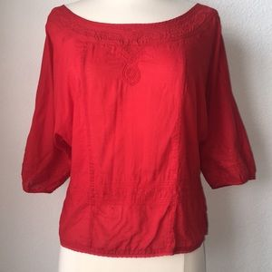 Free People Red Blouse